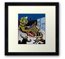 Adhesive Man - Defective Comics Framed Print