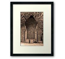 Ancient Furnace Hearth Framed Print