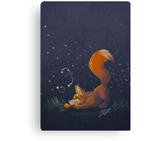 Firefly Fox - Orange Canvas Print