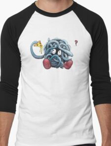 Pokemon pizza party- Tangela Men's Baseball ¾ T-Shirt