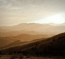 View of Mt Mitchell, Sepia by AdventureSetter