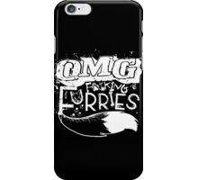 OMG F*#king Furries (Sticker Version) iPhone Case/Skin