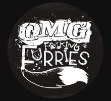OMG F*#king Furries (Sticker Version) by Zhivago