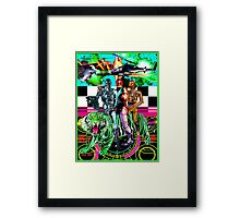 Robots Ride A Tiger Framed Print