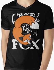 Crazy Like A Fox (Orange) Mens V-Neck T-Shirt