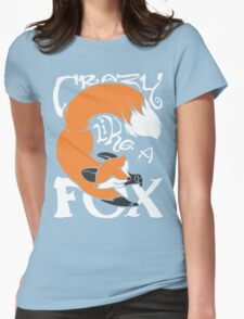 Crazy Like A Fox (Orange) Womens Fitted T-Shirt
