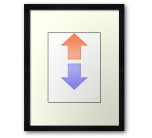 Upvote Downvote Framed Print