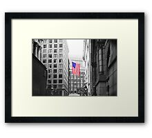 USA alley Framed Print