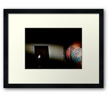 WHERE DO I PUT DAVID? Framed Print