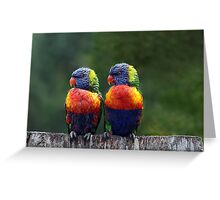 Rendezvous in the Rain Greeting Card