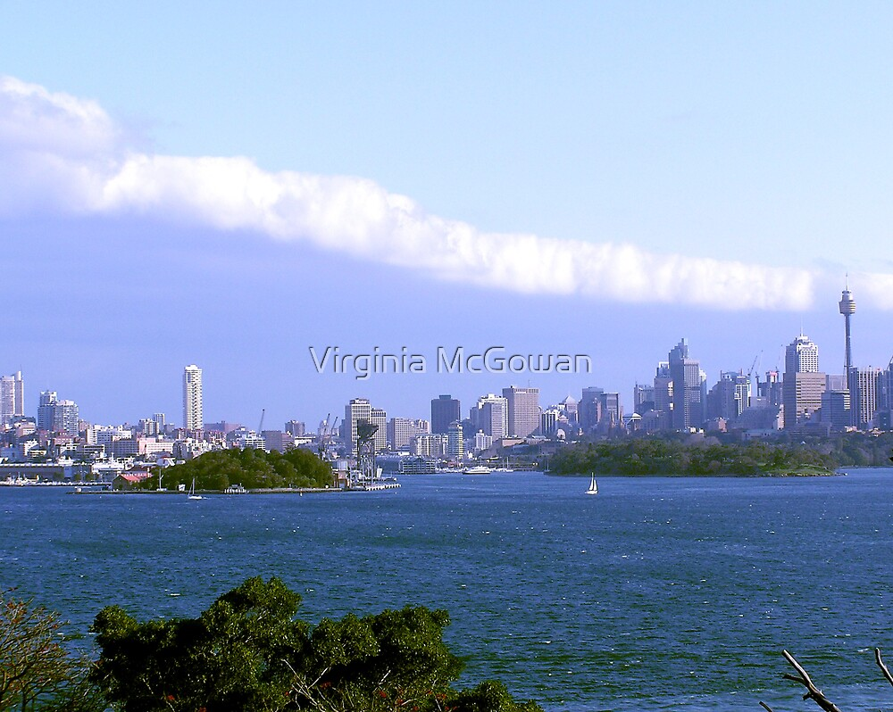 The long white Cloud Sydney Harbour by Virginia McGowan