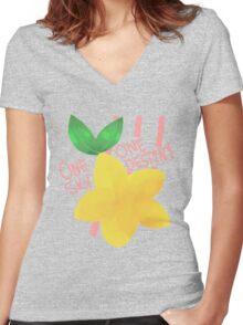 Paopu fruit  Women's Fitted V-Neck T-Shirt