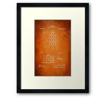 Soldier Armor Patent 1919 Framed Print