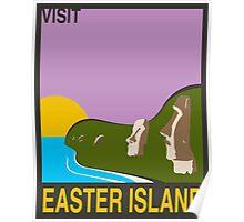 Visit EASTER ISLAND Travel Poster Poster
