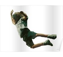 Eddie's epic stage dive. Amazing vectorial design! Poster