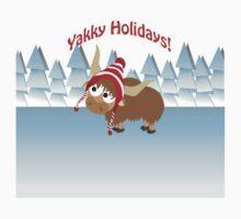 Yakky Holidays! Winter Scene Baby Tee