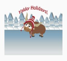 Yakky Holidays! Winter Scene Kids Tee