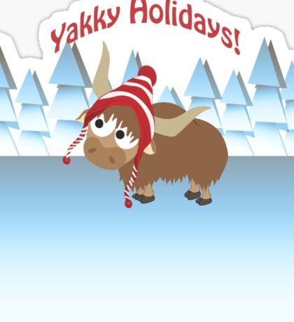 Yakky Holidays! Winter Scene Sticker