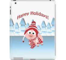 Happy Holidays! Winter Pig iPad Case/Skin