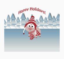 Happy Holidays! Winter Pig Kids Tee
