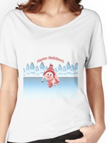 Happy Holidays! Winter Pig Women's Relaxed Fit T-Shirt