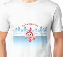 Happy Holidays! Winter Pig Unisex T-Shirt