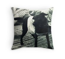little punk dog Throw Pillow