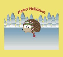 Happy Holidays! Winter Hedgehog Baby Tee