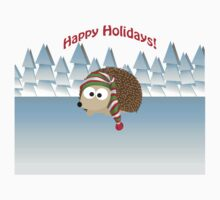 Happy Holidays! Winter Hedgehog Kids Clothes