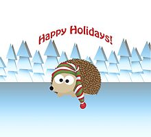 Happy Holidays! Winter Hedgehog by Eggtooth