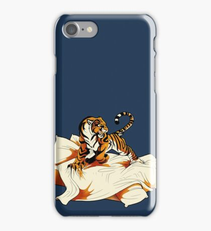 Tiger in Bed iPhone Case/Skin