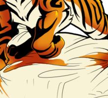 Tiger in Bed Sticker