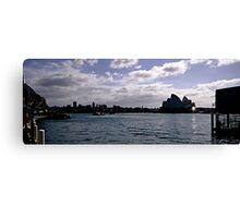 Sydney Opera House Silhouetted Canvas Print