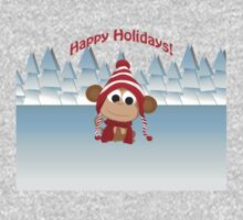 Happy Holidays! Winter Monkey Kids Clothes