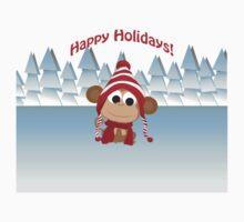 Happy Holidays! Winter Monkey Baby Tee