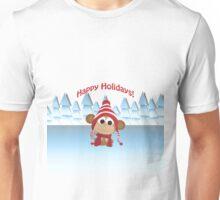 Happy Holidays! Winter Monkey Unisex T-Shirt