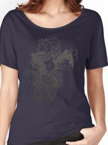 Wolf Floral in Grey Women's Relaxed Fit T-Shirt
