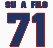 National football player Xavier Su'a-Filo jersey 71 by imsport