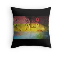 Give a man  YEE Throw Pillow