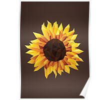Polygonal Sunflower Poster