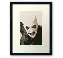 Horror clown Framed Print