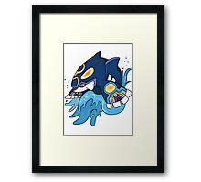 Alpha Sapphire Framed Print