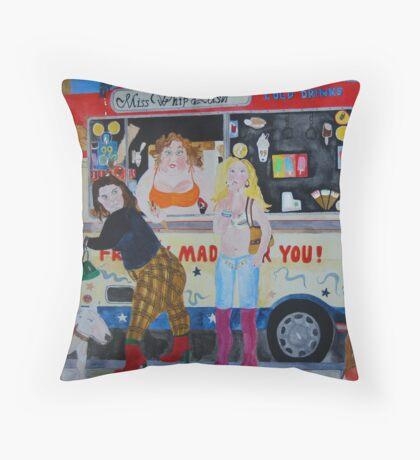 ice cream @ Greenwich park Throw Pillow