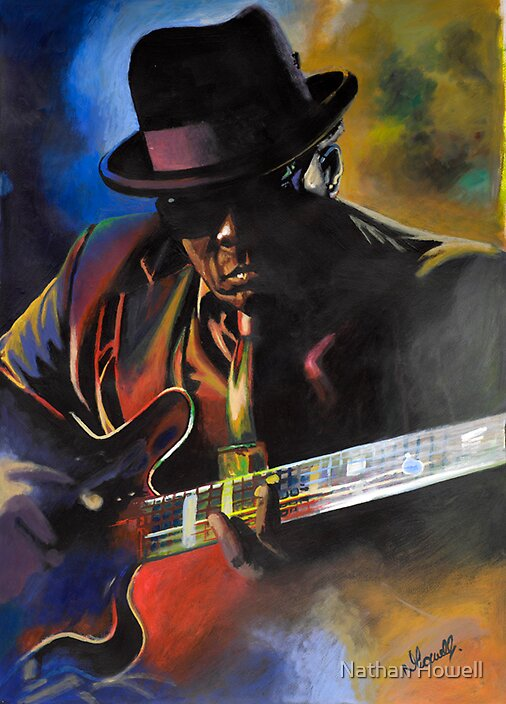 John lee Hooker acrylic painting by Nathan Howell