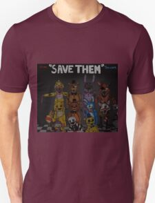 """Five Nights at Freddy's """"Save Them"""" Unisex T-Shirt"""