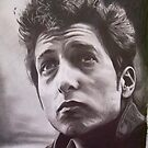 Bob Dylan pencil sketch by Nathan Howell