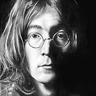 John Lennon pencil sketch by Nathan Howell