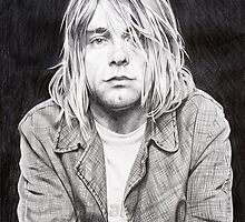 Kurt Cobain pencil sketch by Nathan Howell