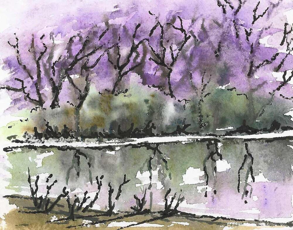 Reflections in Purple by elsa