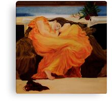 Flaming June Canvas Print